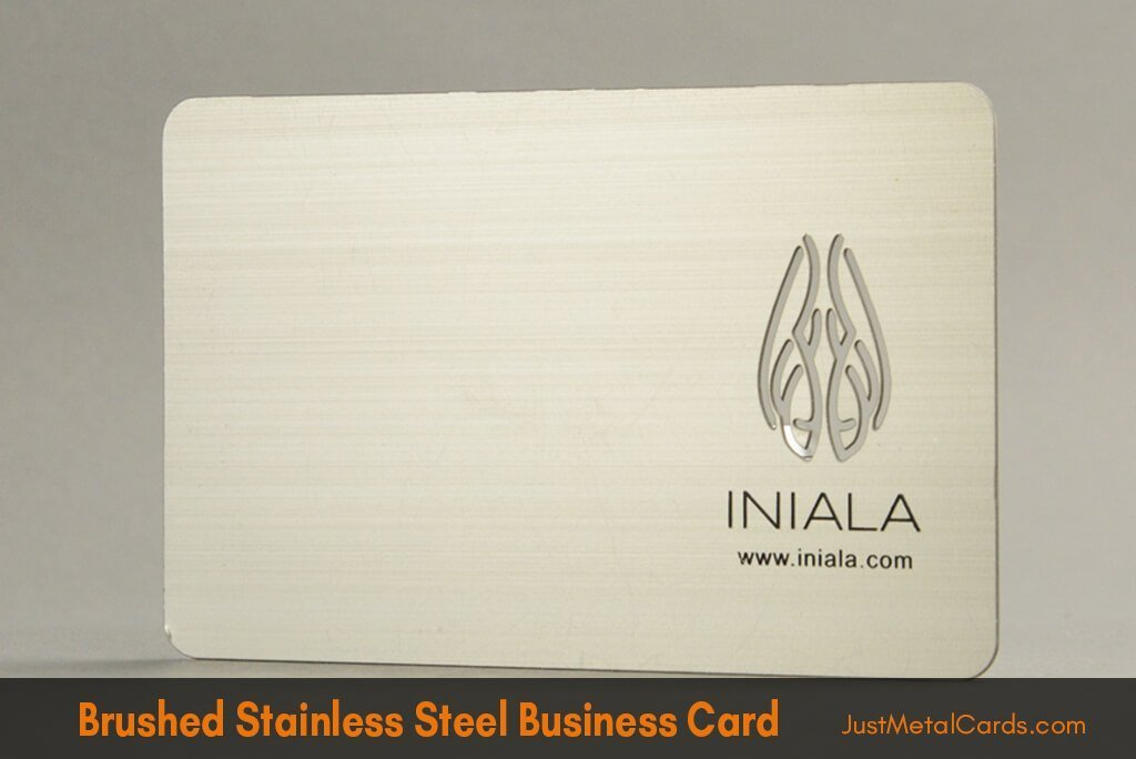 Brushed Stainless Steel Business Card j2