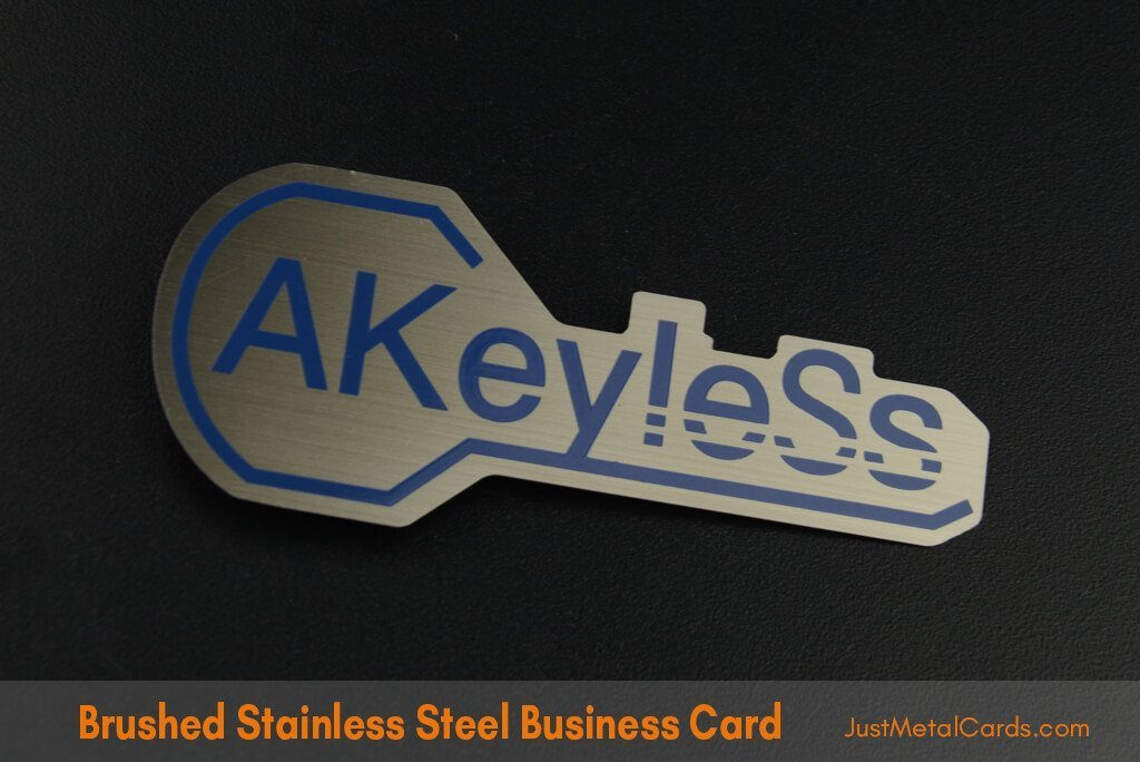 Brushed Stainless Steel Business Card j3
