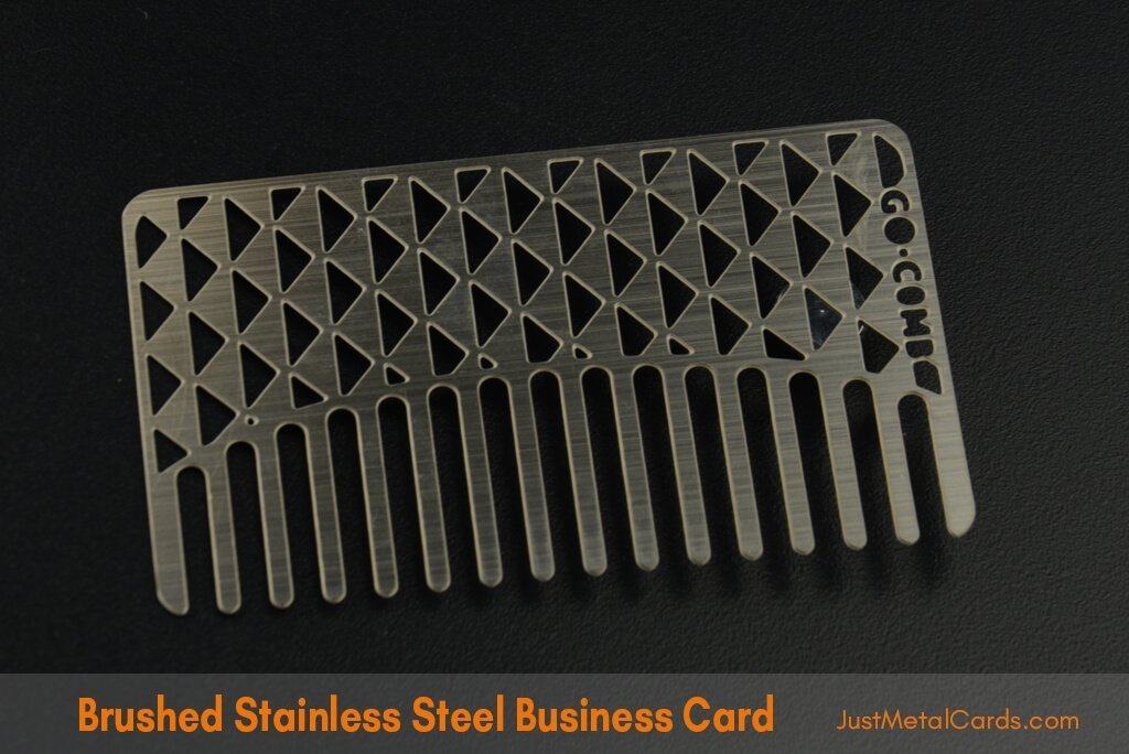 Brushed Stainless Steel Business Card j4