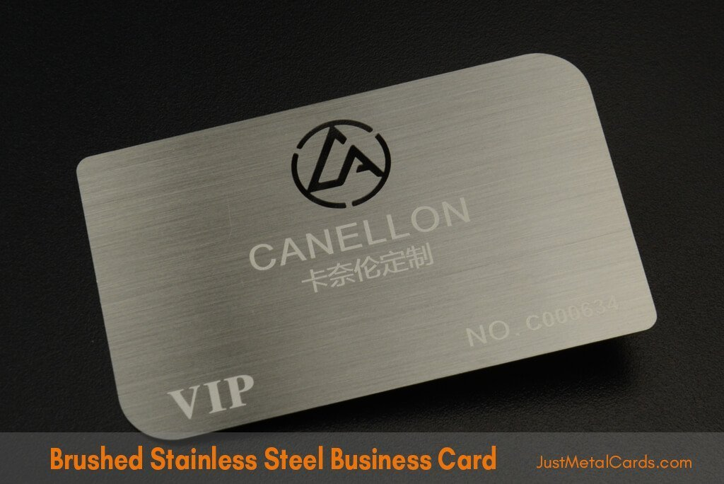 Brushed Stainless Steel Business Card j5
