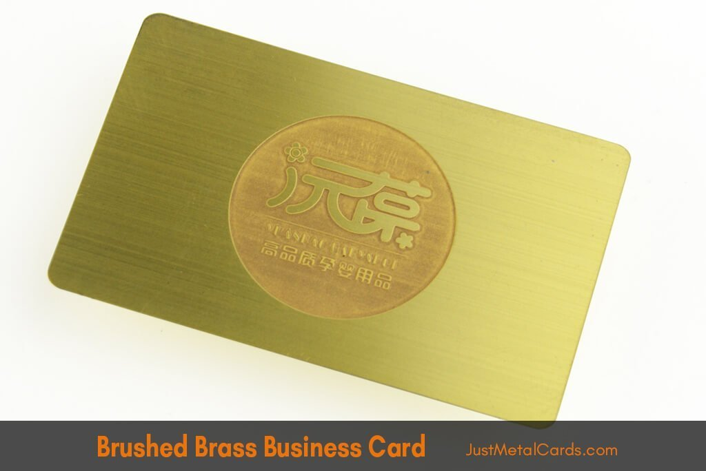 Brushed brass business card j1