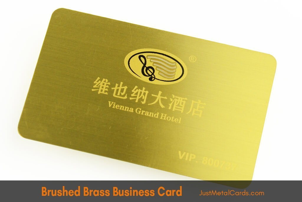 Brushed brass business card j2