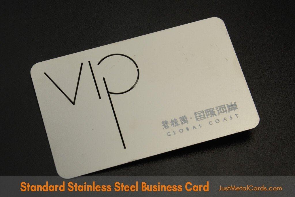 Standard Stainless Steel Business Card j0