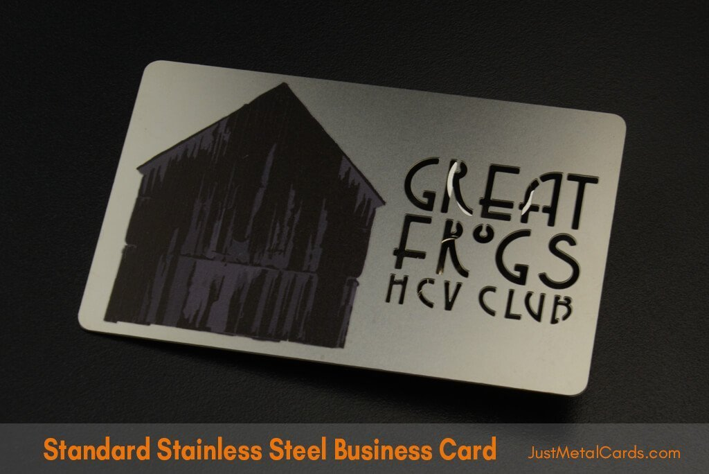 Standard Stainless Steel Business Card j1