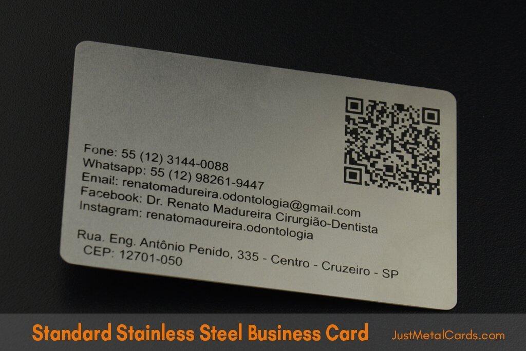 Standard Stainless Steel Business Card j2