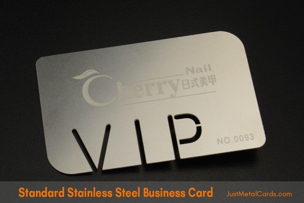 Standard Stainless Steel Business Card j3