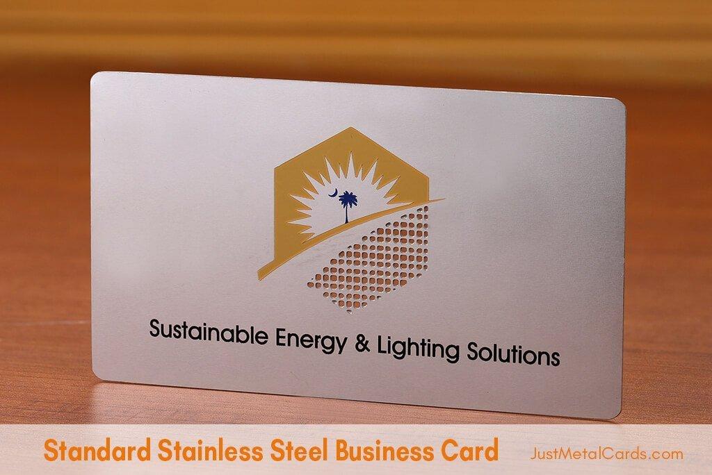 Standard Stainless Steel Business Card j4