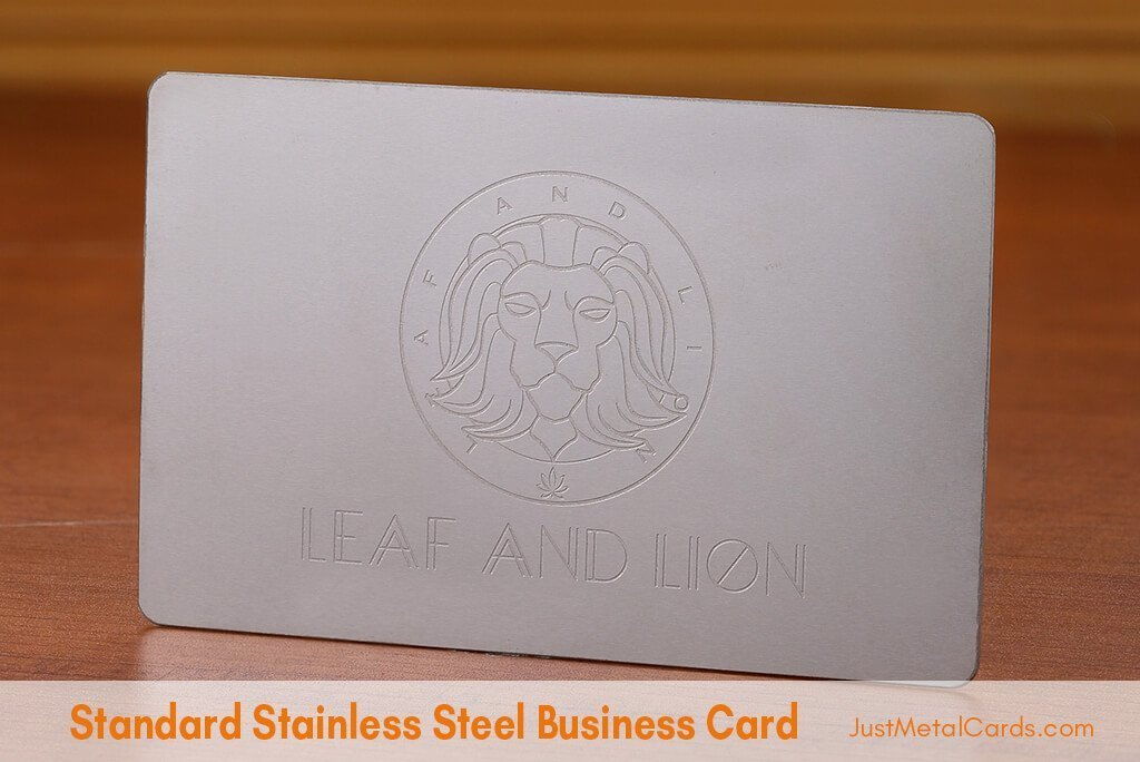 Standard Stainless Steel Business Card j5