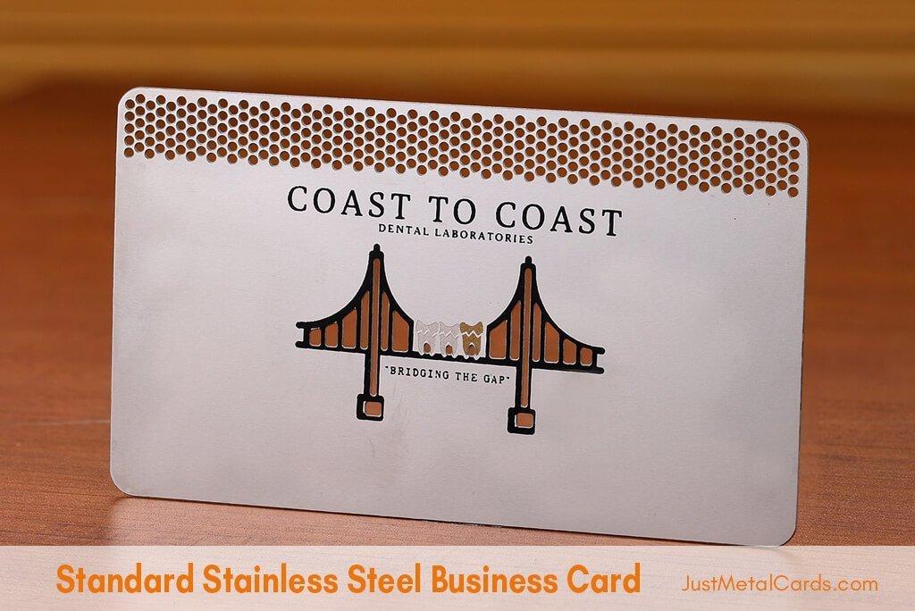 Standard Stainless Steel Business Card j6