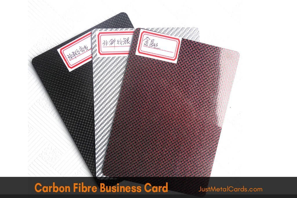 carbon fiber business card j4