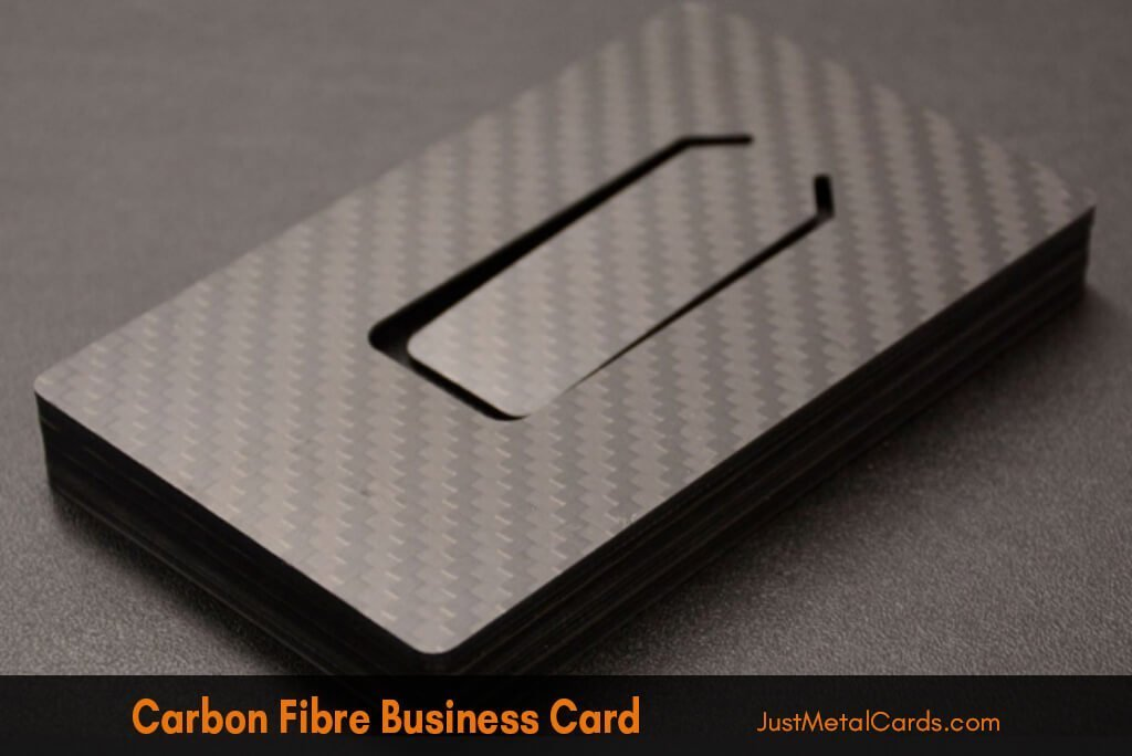 carbon fiber business card j5
