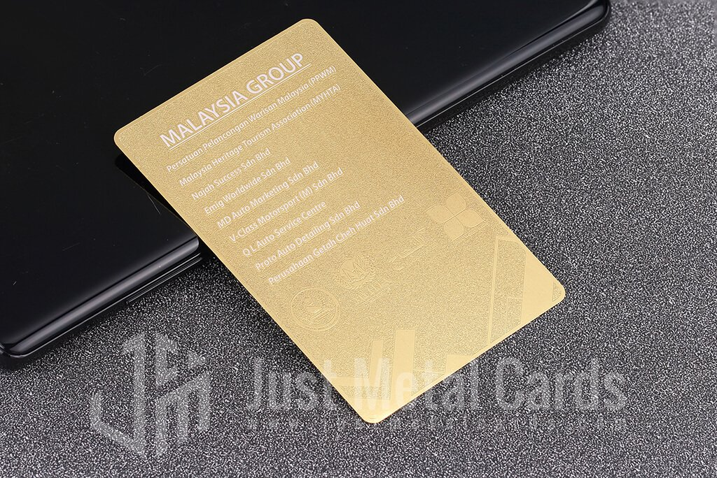 brass metal business card