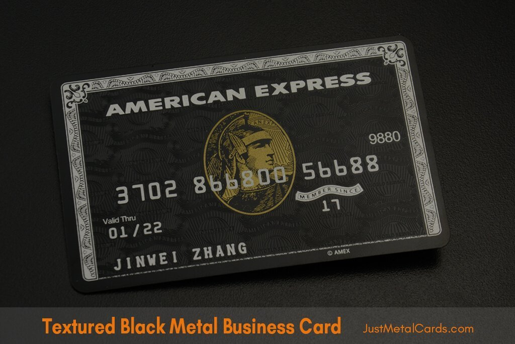 Textured black business card j1
