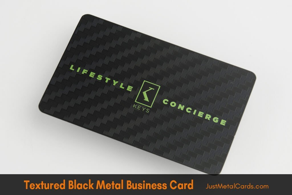 Textured black business card j3