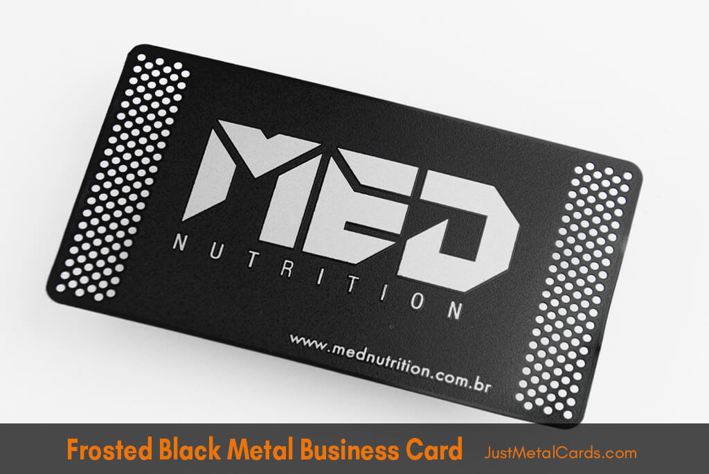 frosted Black Metal Business Card J2