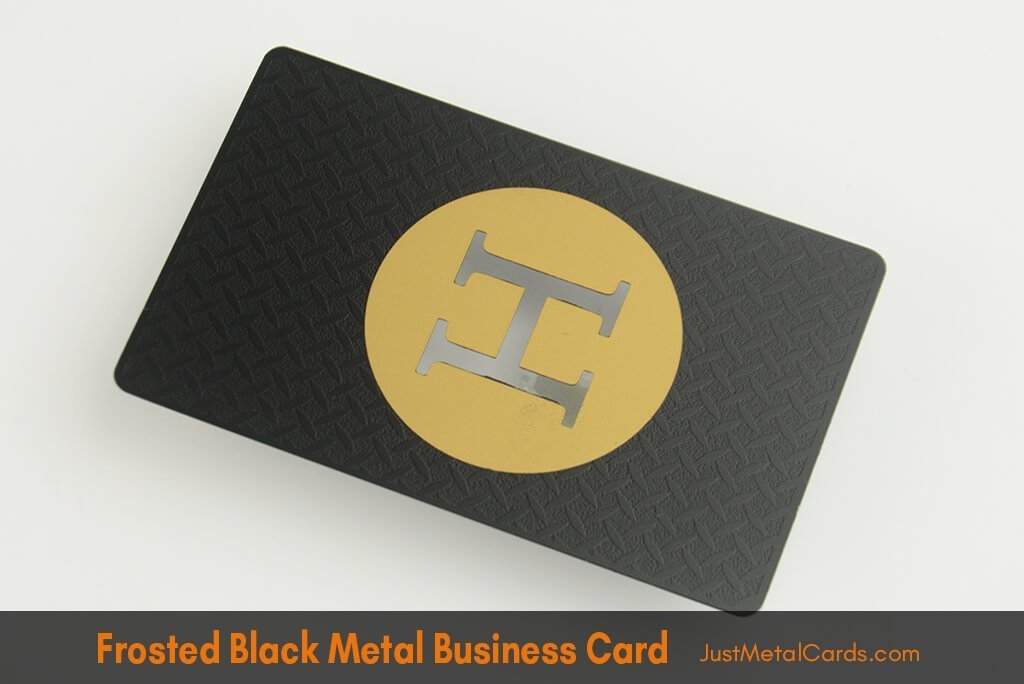 frosted Black Metal Business Card -j3