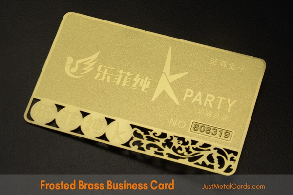 frosted-gold-metal-business-card