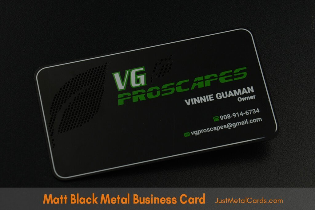matt black business card J2