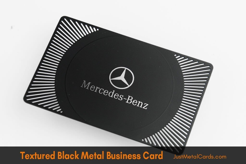 textured black business card j2