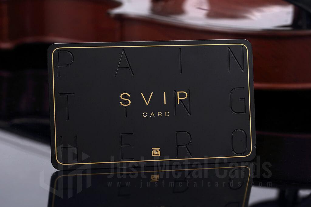 Matte black Metal business card - Svip