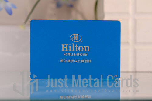 blue color metal business card