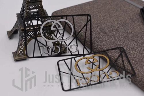 die cut metal business card