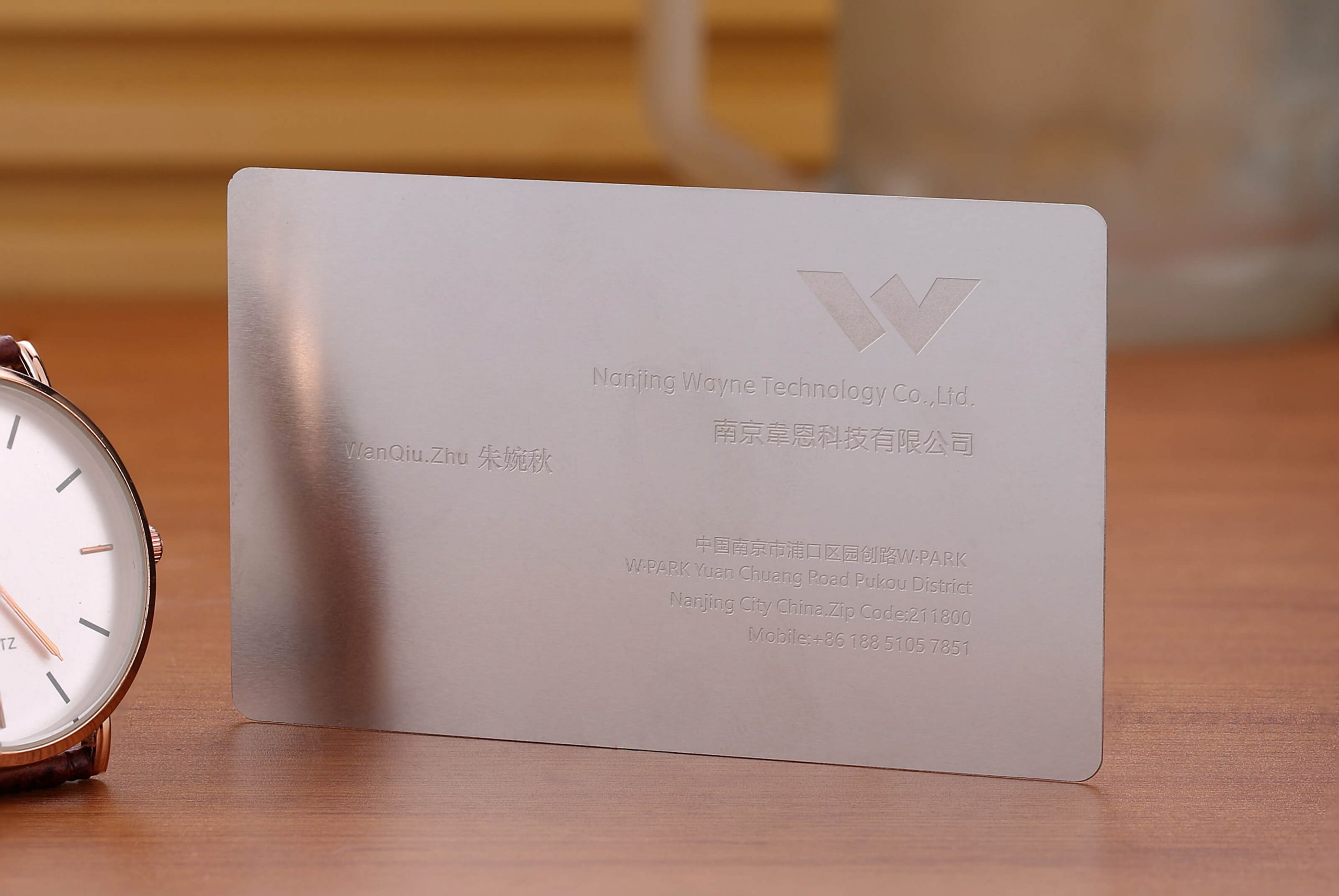 fast delivery steel business cards