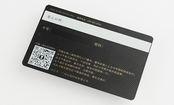 Barcode And QR Code Metal VIP Cards