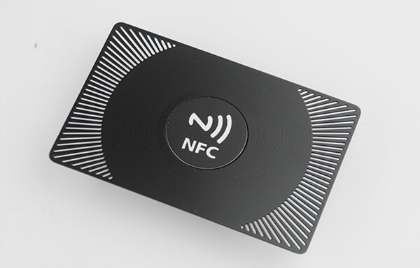 black metal NFC Chip Metal Membership Card