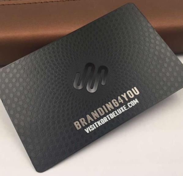 textured metal business card