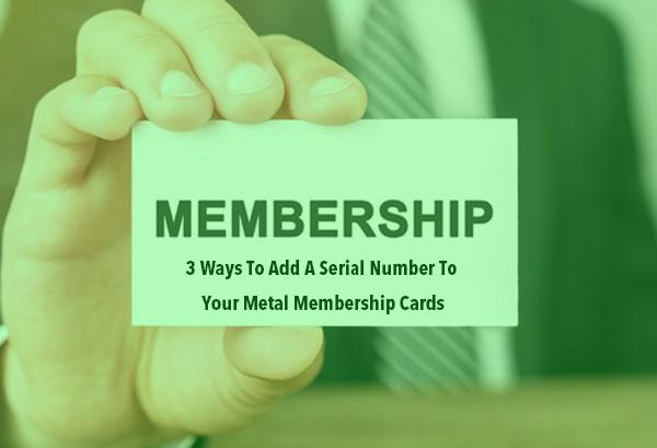 metal membership cards way